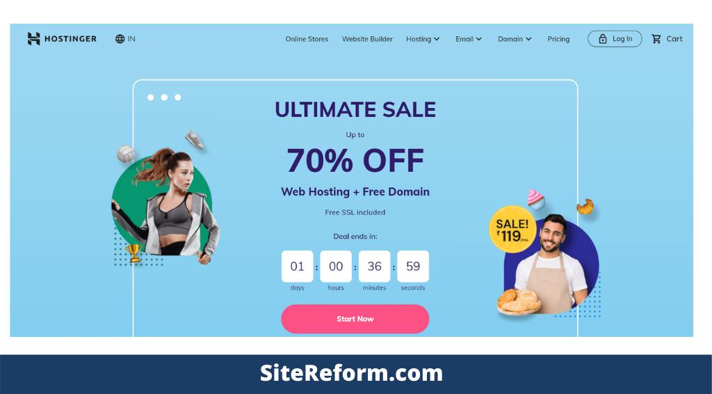 Sitereform Hostinger web hosting How To Start A Blog From Scratch in 2021 [5 Simple Steps]
