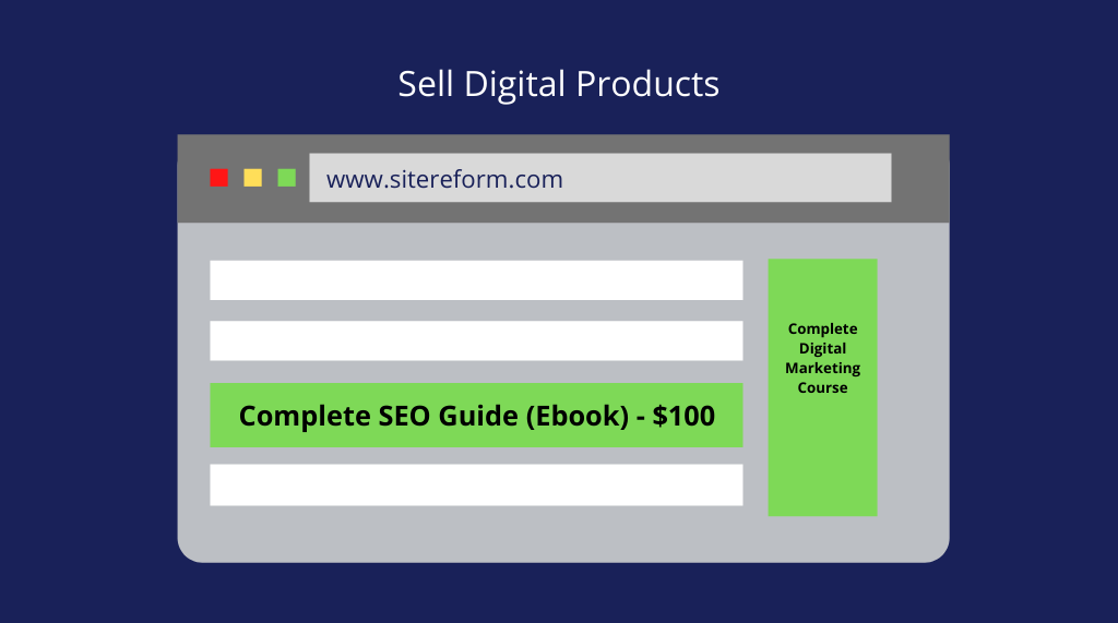 sale digital products on blog How to Make Money Blogging in 2021 (Mega Guide)