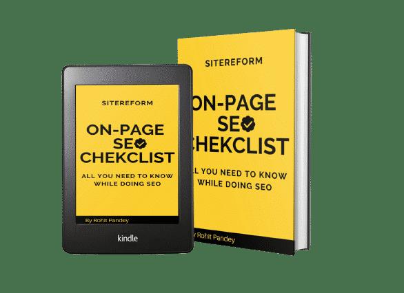 on page seo checklist ebook